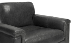 Dark grey Italian leather chair from Spagnessi.
