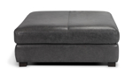 Complete the Medici Grey Leather Collection with an ottoman.