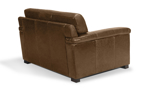 Contemporary brown top grain leather chair made on a hardwood frame.