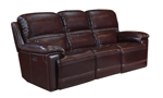 """90"""" wide power reclining leather sofa with USB charging ports."""