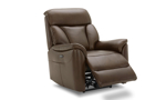 36-inch wide leather power recliner from Kuka Home.