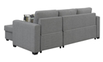 Back shot of the Langley Grey Sleeper Sofa Chaise