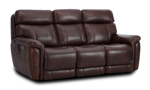 """82"""" wide power reclining leather sofa made of hardwood frames and sinuous spring."""