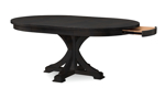 Rachael Ray Everyday Peppercorn Oval 5-Piece Dining Set - Extended table with hidden drawer