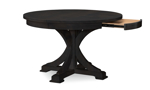 Rachael Ray Everyday Peppercorn Oval 5-Piece Dining Set - Round Table with hidden drawer