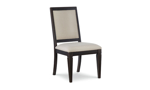 Rachael Ray Everyday Peppercorn Oval 5-Piece Dining Set - Front shot of dining chair.