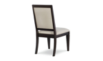 Rachael Ray Everyday Peppercorn Oval 5-Piece Dining Set - Back shot of dining chair.