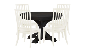 Rachael Ray Everyday Peppercorn Round 5-Piece Dining Set - Round Table and Four Chairs