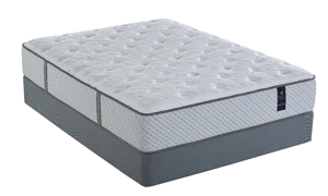 Plush hybrid Brysen mattress from Scott Living with a cooling fabric cover.