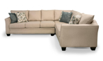 Transitional beige sofa will look great in almost any living room setting.