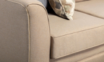 Close up image of the flare arm featured on the London sectional.