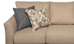 Coordinating throw pillows in multiple colors.
