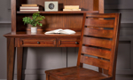 Traditional desk with hutch and matching chair for your home office.