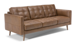 Tufted sofa made from Italian top grain leather.