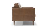 Stupendo brown leather sofa featuring track arms.
