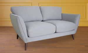 Retro grey loveseat from Carbon.