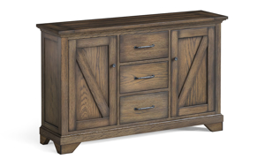 Rustic sideboard that goes with the Stone Creek dining collection.