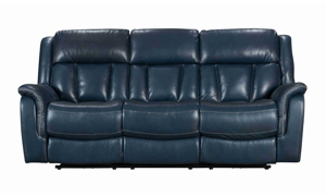 Power reclining leather sofas from Kinetic Home.