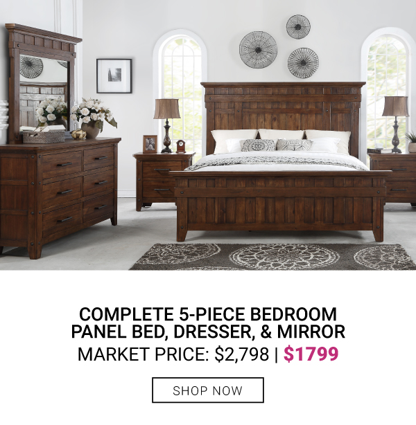 Complete 5-Piece Bedroom $1799