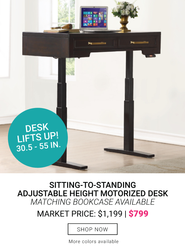 Adjustable Height Motorized Desk $799 - Walnut