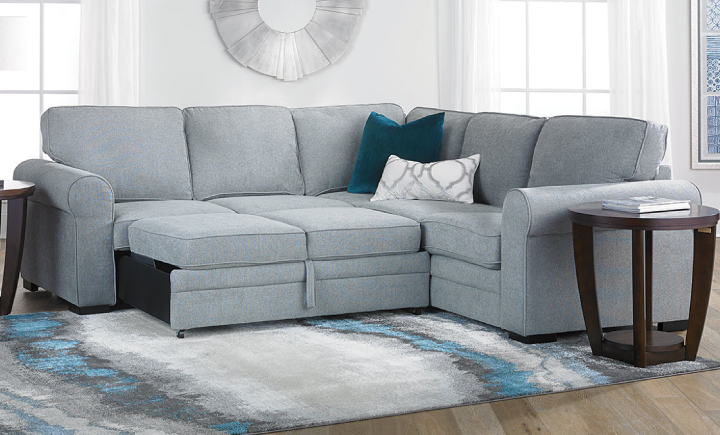 ABIGALE SLEEPER SECTIONAL WITH LEFT SLEEPER LOVESEAT