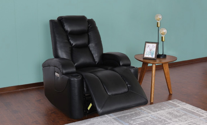 WALL AWAY THEATER POWER RECLINER WITH CUP HOLDERS & USB