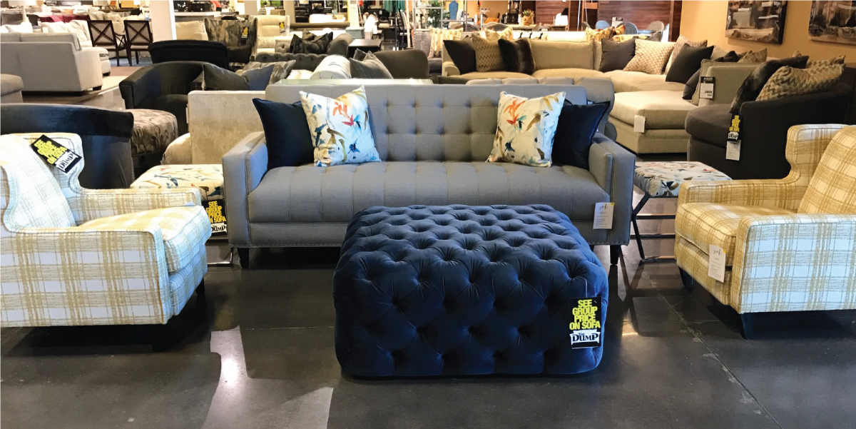 Aria Designs Furniture Showroom Sample Couch And Chairs