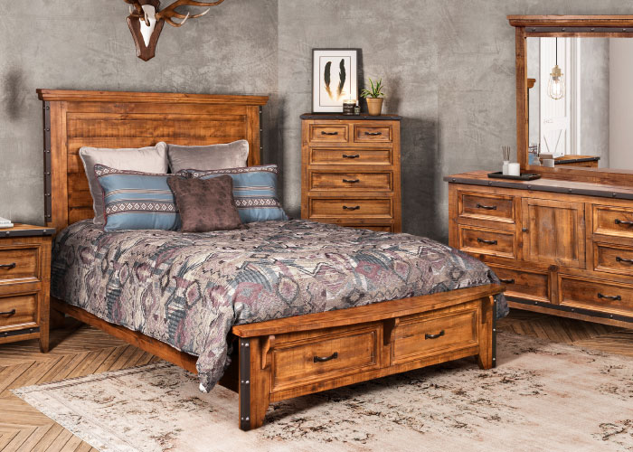 Closeout-Rustic-Solid-Pine-Bedroom-1499 -2
