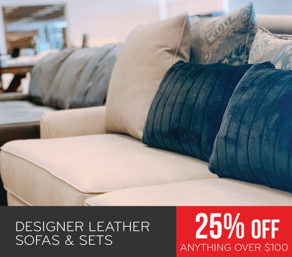 Designer Leather Sofas & Sets 25% Off Anything Over $100