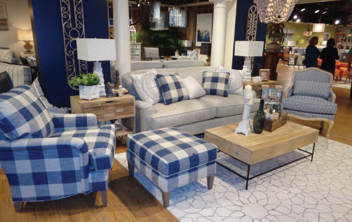 Craftmaster Furniture in Blue Plaid
