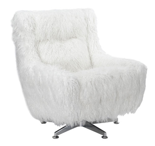 Classic Home White Fluffy Chair