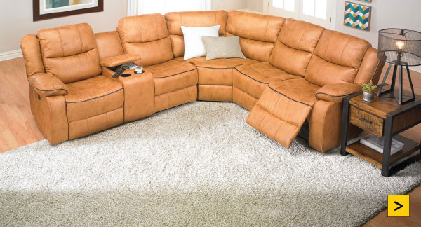 Dual Power Reclining Storage Sectional