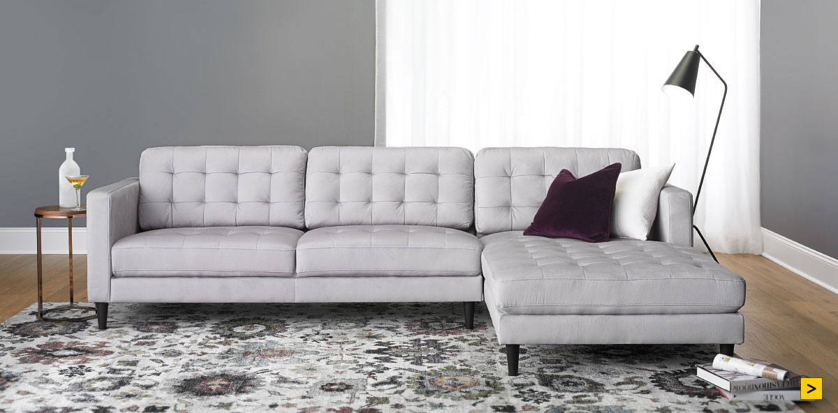 Contemporary Tufted Sofa $699