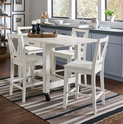 Dinette Closeout $799 White Set