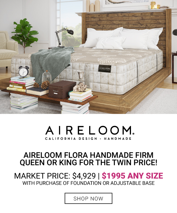 Aireloom Flora Handmade Firm Queen or King $1995