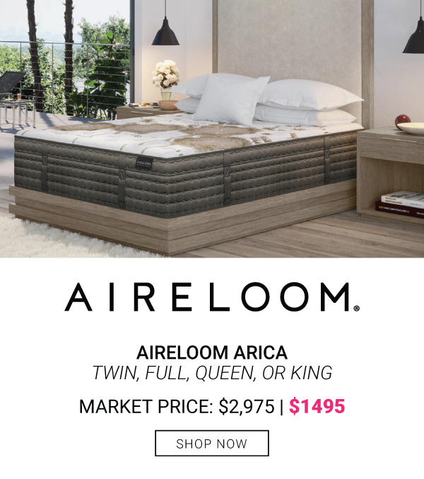 Aireloom Arica Twin, Full, Queen or King $1495