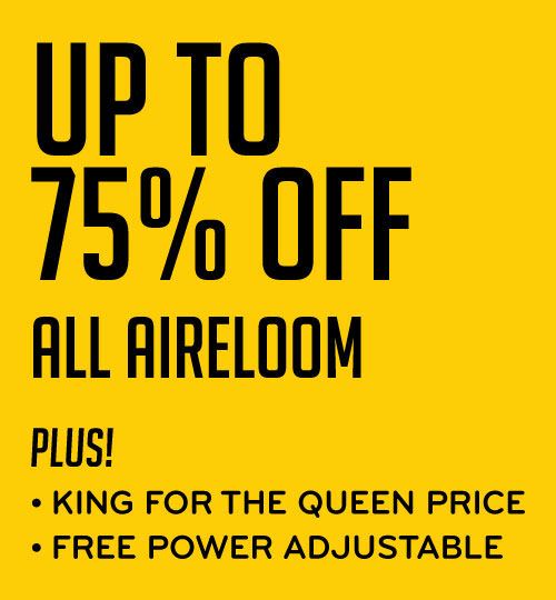 Up to 75% Off Aireloom Plus King for the Price of Queen Free Power Adjustable
