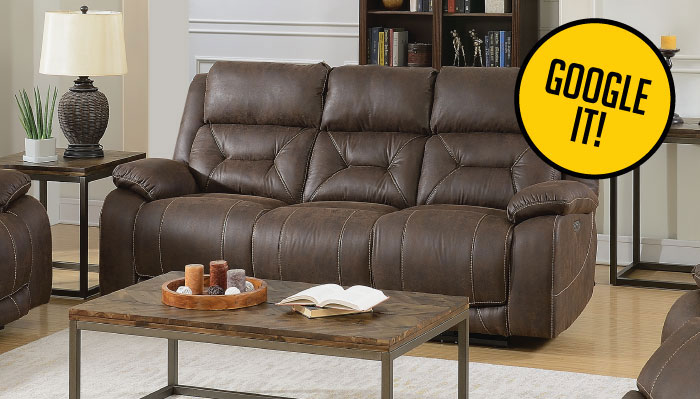 The Aria Power Reclining Memory Foam Sofa with USB $1296 Everywhere $688