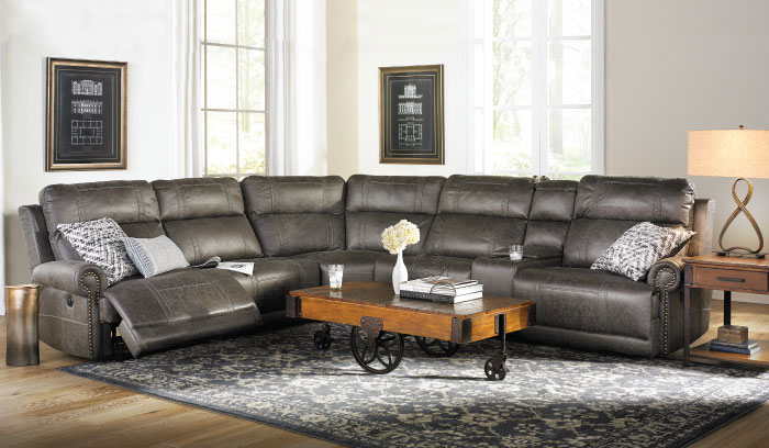 Reclining Storage Sectional 1699