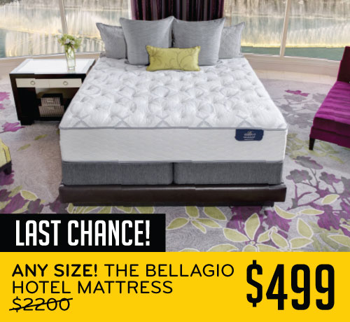 Last Chance! Any Size! The Bellagio Hotel Mattress $499