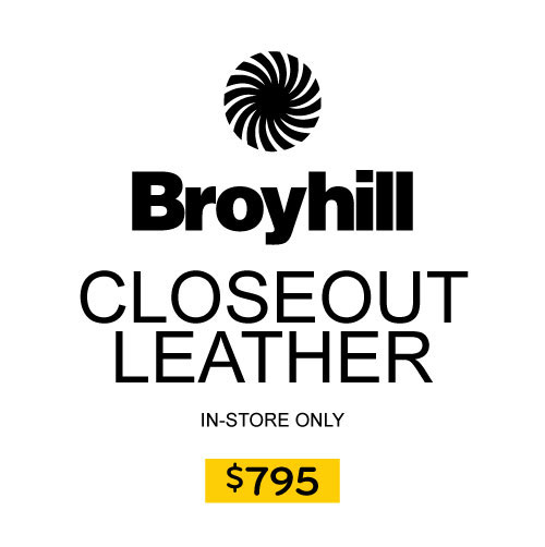 Broyhill Closeout Leather In-Store Only $795