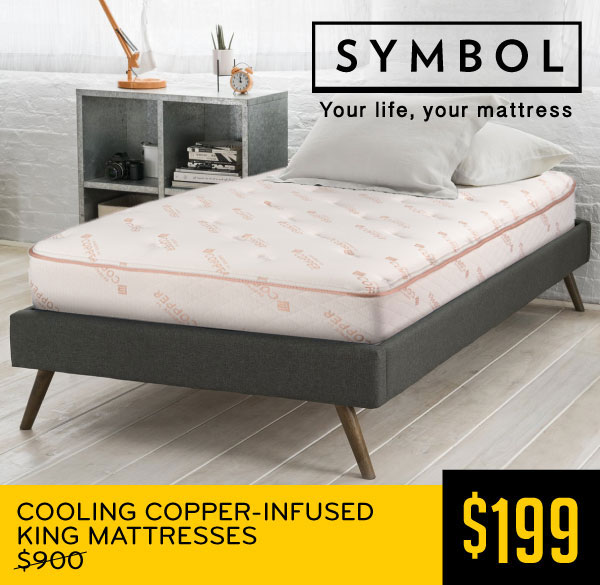 Cooling Copper-Infused King Mattresses $199