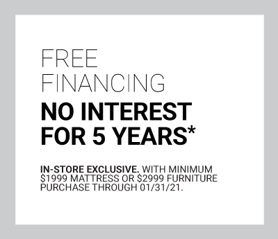 Free Financing No Interest for 5 Years*