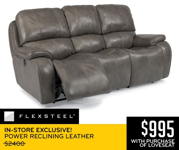 Flexsteel In Exclusive Reclining Leather 995 With Purchase Of Loveseat