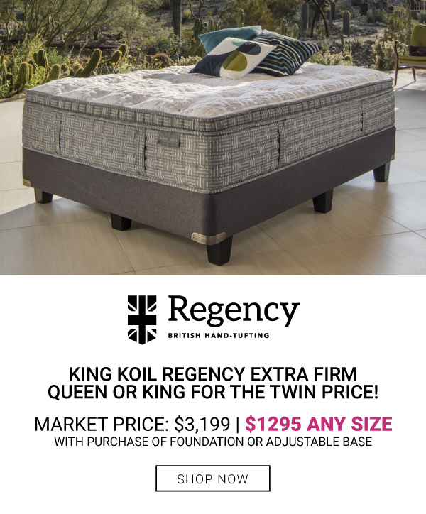 King Koil Regency Extra Firm Queen or King $1295