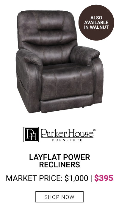 Layflat Power Recliner Pillowtop Arms $395