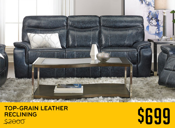 Top Grain Leather Reclining 699