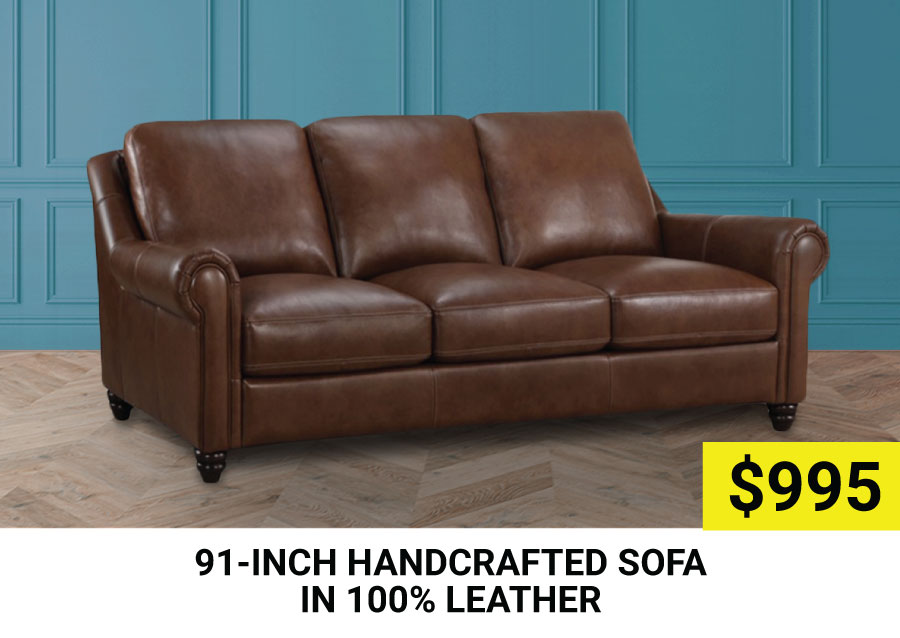 91-inch Handcrafted Sofa $995