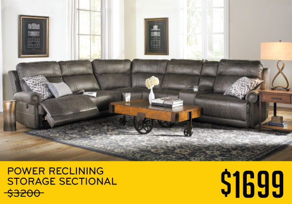 Power Reclining Storage Sectional $1699