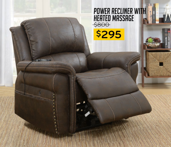 Power Recliner with Heated Massage $295